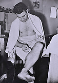 Celtic legend Sean Fallon photographed after a match in the 1950's - Picture by Donald MacLeod - 17.03.11 - 07702 319 738 - www.donald-macleod.com - clanmacleod@btinternet.com