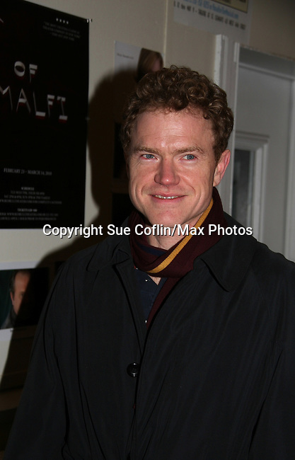 "Clark Carmichael in the cast - Opening Night of the play ""The Duchess of Malfi"" on February 23, 2010 at the Red Bull Theatre, New York City, NY. (Photos by Sue Coflin/Max Photos)"