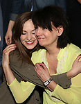 Laura Osnes and Beth Leavel attends the Actors' Equity Broadway Opening Night Gypsy Robe Ceremony honoring Kevin Worley from 'Bandstand' at the Bernard B. Jacobs Theatre on 4/26/2017 in New York City.