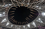 Fireworks go off from the roof of the stadium to announce a world champion. IAAF world athletics championships. London Olympic stadium. Queen Elizabeth Olympic park. Stratford. London. UK. 11/08/2017. ~ MANDATORY CREDIT Garry Bowden/SIPPA - NO UNAUTHORISED USE - +44 7837 394578