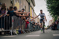 The ever popular World Champion Peter Sagan (SVK/Bora-Hansgrohe) at the Team presentation in La Roche-sur-Yon<br /> <br /> Le Grand D&eacute;part 2018<br /> 105th Tour de France 2018<br /> &copy;kramon