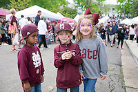 Cotton District Arts Festival (CDAF): children with face painting.<br />  (photo by Megan Bean / &copy; Mississippi State University)