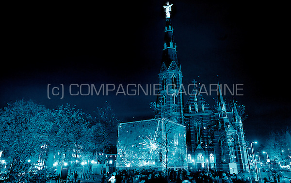 The Tesseract installation from 1024 Architecture at the Glow Lightfestival in Eindhoven (Holland, 10/11/2013)