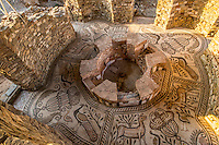 Mosaics in the Baptistereum at Stobi, Ancient Roman city in Macedonia, remains of Christian building period