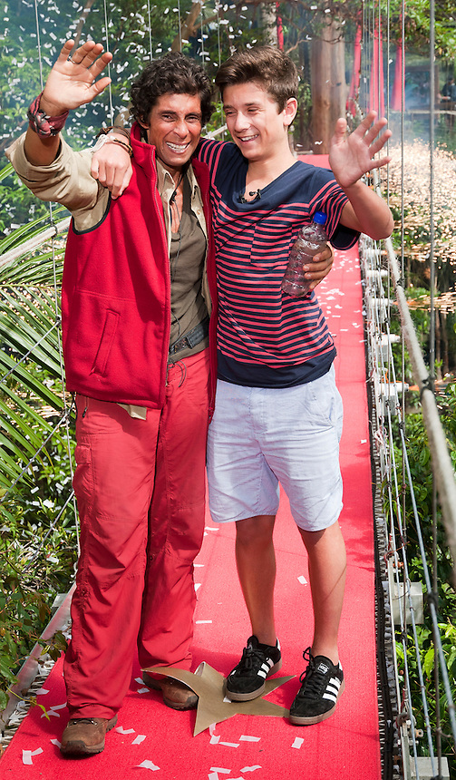 I'm a celebrity Get Me out of here 2011. .FATIMA WHITBREAD 10TH EVICTION AND SON RYAN.Pic Jayne Russell.29.11.2011..