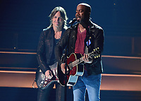 NASHVILLE, TN - NOVEMBER 8:  Keith Urban and Darius Rucker at the 51st Annual CMA Awards at the Bridgetone Arena on November 8, 2017 iin Nashville, Tennessee. (Photo by Scott Kirkland/PictureGroup)