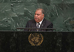 72 General Debate – 20 September <br /> <br /> by His Excellency Baron Divavesi Waqa, President of the Republic of Nauru