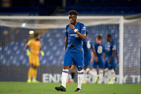 Callum Hudson-Odoi of Chelsea U23 in a torn shirt during the Premier League 2 match between Chelsea U23 and Brighton & Hove Albion Under 23 at Stamford Bridge, London, England on 13 September 2019. Photo by Andy Rowland.