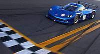 The New Grand-Am Rolex Series Corvette Daytona Prototype on track at Daytona testing, 11/16/11.  (Photo by Brian Cleary/www.bcpix.com)