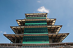 USA, Indiana, Indianapolis Motor Speedway, control tower pagoda during off season scene of the annual Indy 500 car race.