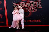 """LOS ANGELES - JUN 28:  Millie Bobby Brown, Sadie Sink at the """"Stranger Things"""" Season 3 World Premiere at the Santa Monica High School on June 28, 2019 in Santa Monica, CA"""