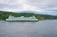 WASJ_D177 - USA, Washington, San Juan Islands, Washington State Ferry and Orcas Island.