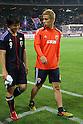 (L to R) .Shinji Okazaki (JPN), .Keisuke Honda (JPN), .MAY 23, 2012 - Football /Soccer : .Kirin Challenge Cup 2012 .between Japan 2-0 Azerbaijan .at Shizuoka Stadium Ecopa, Shizuoka, Japan. .(Photo by YUTAKA/AFLO SPORT) [1040]