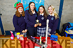 Students of the Presentation Secondary school, Casleisland, winners of Senior category with their Glúin and Glan creation.<br /> L to r: Annbrit Langer, Lauren Butler, Caoimhe Horgan and Maria Daly.