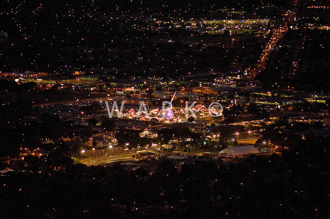 night aerial of Colorado State Fair