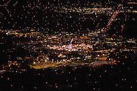 night aerial of Colorado State Fair
