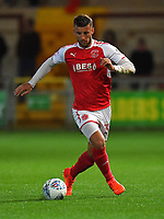 Fleetwood Town's Baily Cargill in action<br /> <br /> Photographer Dave Howarth/CameraSport<br /> <br /> EFL Checkatrade Trophy - Northern Section Group A - Fleetwood Town v Morecambe - Tuesday 3rd October 2017 - Highbury Stadium - Fleetwood<br />  <br /> World Copyright &copy; 2018 CameraSport. All rights reserved. 43 Linden Ave. Countesthorpe. Leicester. England. LE8 5PG - Tel: +44 (0) 116 277 4147 - admin@camerasport.com - www.camerasport.com