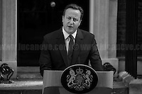 24.06.2016 - The British Prime Minister David Cameron, along with his wife Samantha, opened the door of Number 10 to give a speech about the EU Referendum result, and about his defeat, and to communicate to the Country and to the rest of the world his formal resignation within 3 months. <br />