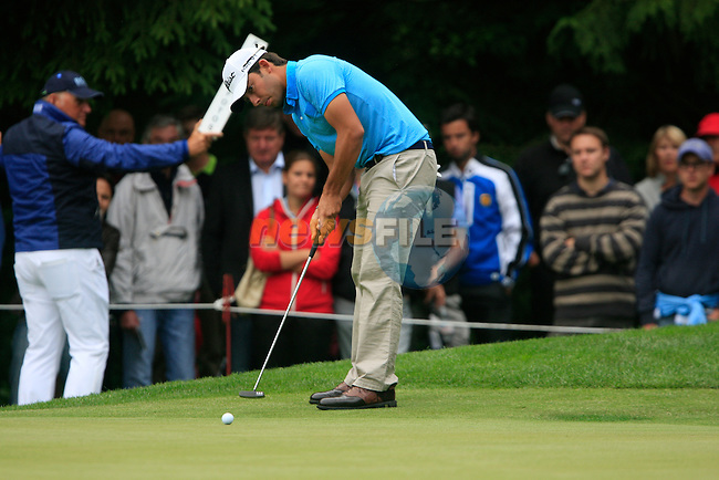 Pablo Larrazabal (ESP) takes his putt on the 16th green during of Day 3 of the BMW International Open at Golf Club Munchen Eichenried, Germany, 25th June 2011 (Photo Eoin Clarke/www.golffile.ie)