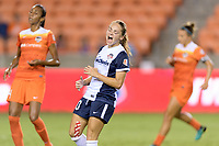 Houston, TX - Saturday July 15, 2017: Estefanía Banini reacts to missing a shot on Houston's goal during a regular season National Women's Soccer League (NWSL) match between the Houston Dash and the Washington Spirit at BBVA Compass Stadium.