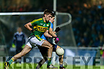 Adrian Spillane Kerry in action against Michael Fitzsimons Dublin in the National League in Austin Stack park on Saturday night.