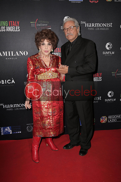 Gina Lollobrigida, Edward James Olmos<br /> at the Filming Italy Awards and Official HFPA Screening of The Anarchist Banker, Harmony Gold, Los Angeles, CA 01-31-19<br /> David Edwards/DailyCeleb.com 818-249-4998