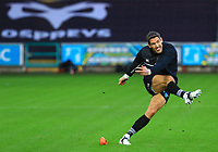 Ospreys' James Hook during the warm up.<br /> <br /> Photographer Dan Minto/CameraSport<br /> <br /> Guinness Pro14 Round 13 - Ospreys v Cardiff Blues - Saturday 6th January 2018 - Liberty Stadium - Swansea<br /> <br /> World Copyright &copy; 2018 CameraSport. All rights reserved. 43 Linden Ave. Countesthorpe. Leicester. England. LE8 5PG - Tel: +44 (0) 116 277 4147 - admin@camerasport.com - www.camerasport.com