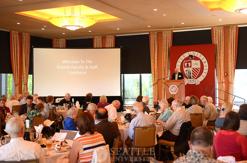 Retiree Luncheon in the Campion Ballroom Monday May 06, 2013.
