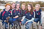 Lisa Deady, Annie O'Donnell, Sineade Ryall, Ciara Cusack, Maura O'Donnell and Jade Pope, Tralee Rowing Club,  pictured at the Kerry Head of the River competition in Killorglin on Saturday morning.......