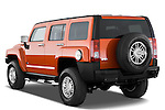 Rear three quarter view of a 2008 Hummer H3 Alpha SUV
