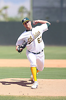 Josh Outman - Oakland Athletics - 2010 Instructional League.Photo by:  Bill Mitchell/Four Seam Images..
