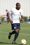 12 March 2008: Marvell Wynne (USA). The United States U-23 Men's National Team practiced at the Tampa Bay Buccaneers training facility in Tampa, FL on an off day in the 2008 CONCACAF Men's Olympic Qualifying Tournament.