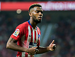 Thomas Lemar of Atletico de Madrid reacts during the La Liga 2018-19 match between Atletico de Madrid and Rayo Vallecano at Wanda Metropolitano on August 25 2018 in Madrid, Spain. Photo by Diego Souto / Power Sport Images