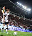 Mario Gotze of Bayern Munich looks on during the Bayern Munich vs Guangzhou Evergrande as part of the Bayern Munich Asian Tour 2015  at the Tianhe Sport Centre on 23 July 2015 in Guangzhou, China. Photo by Aitor Alcalde / Power Sport Images