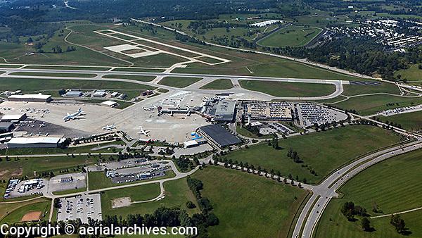 aerial photograph Blue Grass Airport, LEX, Lexington, Kentucky