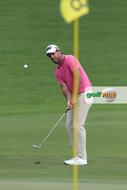 Charl Schwartzel (RSA) chips onto the 18th green during Saturday's Round 3 of the 2017 PGA Championship held at Quail Hollow Golf Club, Charlotte, North Carolina, USA. 12th August 2017.<br /> Picture: Eoin Clarke   Golffile<br /> <br /> <br /> All photos usage must carry mandatory copyright credit (&copy; Golffile   Eoin Clarke)