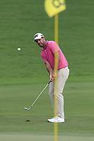 Charl Schwartzel (RSA) chips onto the 18th green during Saturday's Round 3 of the 2017 PGA Championship held at Quail Hollow Golf Club, Charlotte, North Carolina, USA. 12th August 2017.<br /> Picture: Eoin Clarke | Golffile<br /> <br /> <br /> All photos usage must carry mandatory copyright credit (&copy; Golffile | Eoin Clarke)