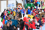 The crowd during the FIS Ski World Cup 1.3 Km Sprint Free finals, on February 2, 2014 in Dobbiaco, Toblach. <br /> <br /> &copy; Pierre Teyssot