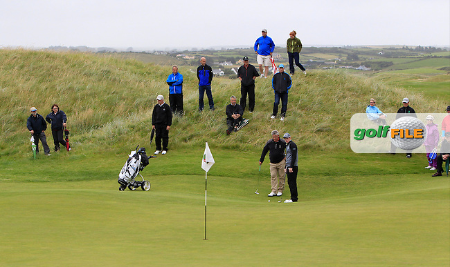 Stuart Grehan (Tullamore) on the 10th green during the Final Round of the South of Ireland Amateur Open Championship at LaHinch Golf Club on Sunday 26th July 2015.<br /> Picture:  Golffile | Thos Caffrey