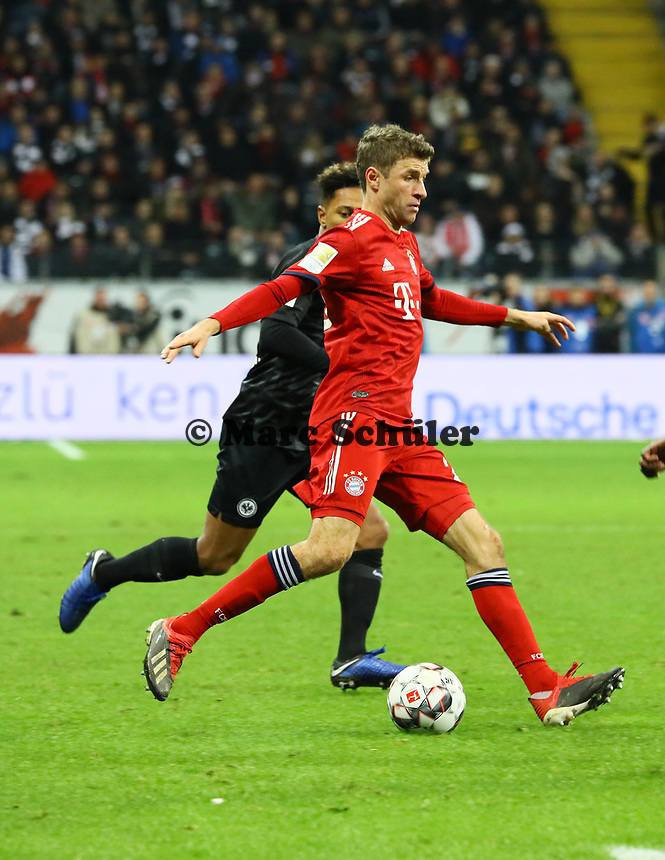 Thomas Mueller (FC Bayern Muenchen) - 22.12.2018: Eintracht Frankfurt vs. FC Bayern München, Commerzbank Arena, DISCLAIMER: DFL regulations prohibit any use of photographs as image sequences and/or quasi-video.