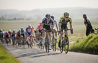 Christopher Juul-Jensen (DEN/Mitchelton-Scott) & Ian Stannard (GBR/SKY) up front<br /> <br /> 62nd E3 BinckBank Classic (Harelbeke) 2019 <br /> One day race (1.UWT) from Harelbeke to Harelbeke (204km)<br /> <br /> ©kramon