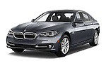 2015 BMW 5 Series 528i 4 Door Sedan Angular Front stock photos of front three quarter view
