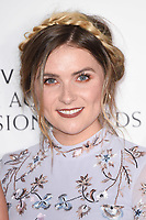 Chelsea Halfpenny in the winners room for the BAFTA TV Awards 2018 at the Royal Festival Hall, London, UK. <br /> 13 May  2018<br /> Picture: Steve Vas/Featureflash/SilverHub 0208 004 5359 sales@silverhubmedia.com
