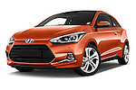 Stock pictures of low aggressive front three quarter view of 2015 Hyundai I20 Sport 3 Door Hatchback Low Aggressive