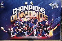 Banner der Equipe Tricolore als amtierender Weltmeister am Stade de France - 15.10.2018: Pressekonferenz DFB vor dem Spiel Frankreich vs. Deutschland, 4. Spieltag UEFA Nations League, Stade de France, DISCLAIMER: DFB regulations prohibit any use of photographs as image sequences and/or quasi-video.
