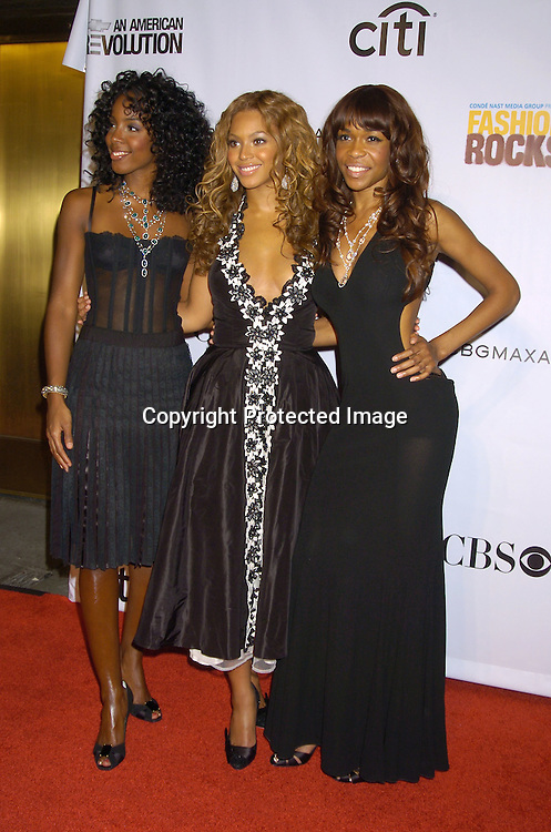 Destiny's Child ..at the Conde Nast Media Group Fashion Rocks second annual live concert on September 8, 2005 at Radio City Music Hall. ..Photo by Robin Platzer, Twin Images