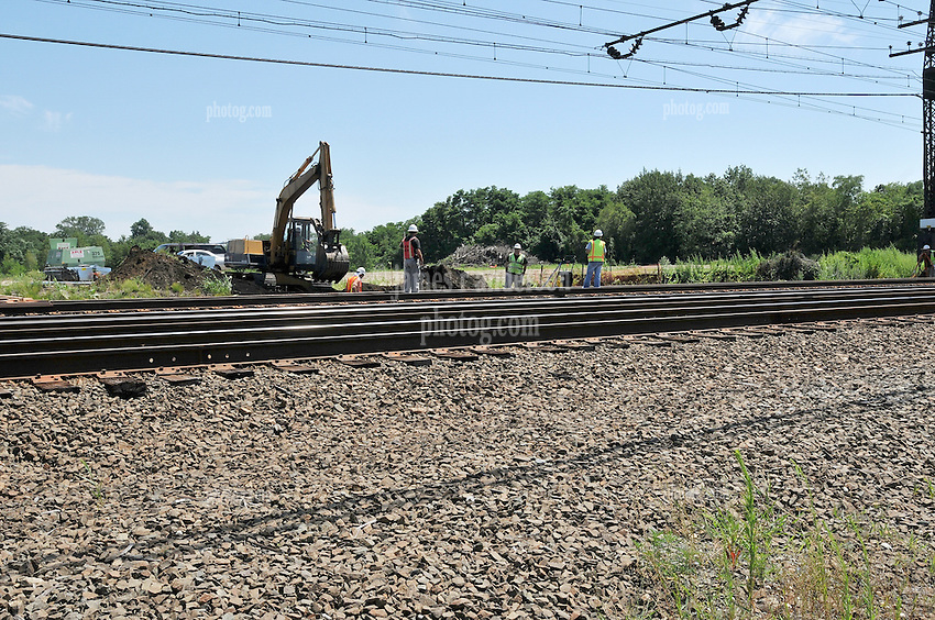 Construction Progress Photography of the Railroad Station at Fairfield Metro Center. First Site Visit, Pre-Construction, of once per month periodic photography coverage of the entire project. Primary Contractor: The Middlesex Corporation, Littleton, MA. Owner: Connecticut Department of Transportation. Serving Metro-North Commuter Railroad.