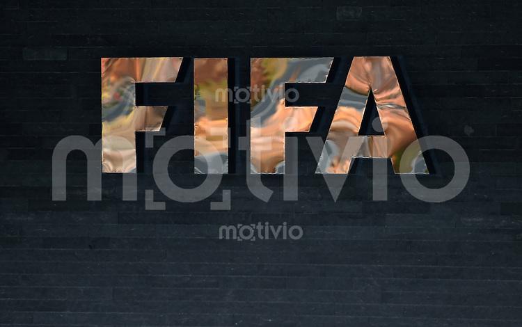 Fussball International  27.10.2015 Schriftzug am Home of FIFA in Zuerich