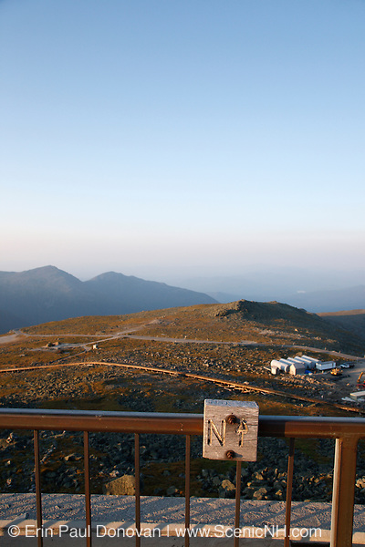 The summit of Mount Washington in the White Mountains, New Hampshire USA.