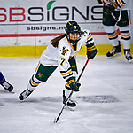 2 February 2020: University of Vermont Catamount Forward Kristina Shanahan, a Junior from Ste-Anne-de-Bellevue, Québec, in third period action against the Holy Cross Crusaders at Gutterson Fieldhouse in Burlington, Vermont. The Lady Cats rallied in the 3rd period to tie the Crusaders 2-2 in NCAA Women's Hockey East play. Mandatory Credit: Ed Wolfstein Photo *** RAW (NEF) Image File Available ***